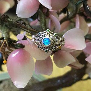 Vintage Art Deco 925 opal ring